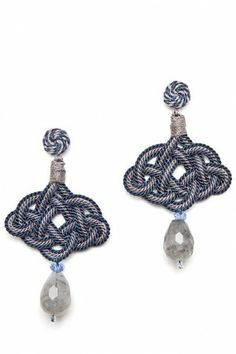 Passementerie earrings.