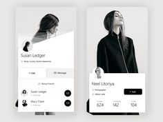 User+Another User Profile – User interface by Prakhar Neel Sharma