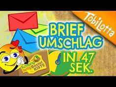 Briefumschlag falten    DIY Kuvert falten   Briefumschlag basteln   Kinderkanal Bastelkiste 23 - YouTube