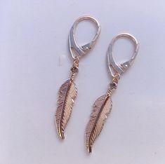 Boucles d'oreilles fine plume