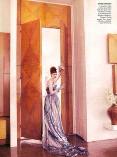 Karen Elson by Mario Testino for Vogue US (March 2008). Nina Riccidress.