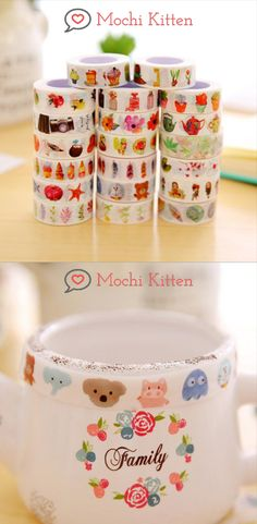 These masking tapes will add colorful patterns on your bujo spreads, notes, and diy projects. Washi Tape Crafts, Washi Tapes, Masking Tape, School Accessories, Everyday Items, Sticky Notes, Mochi, School Supplies, Spreads