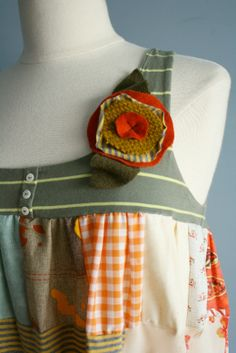 Image detail for -... Dress Shabby Chic Clothing Upcycled Eco Clothe Country Prairie Medium