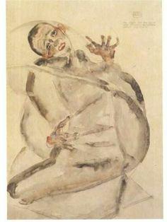 Self-portrait as prisoner - Egon Schiele 1912