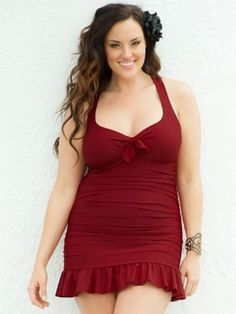 6b602dcd64 1940s style Kelly Swimsuit $59.98 AT vintagedancer.com Pin Up Swimwear,  Hips And Curves