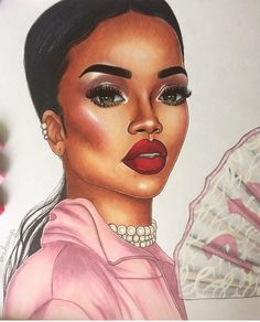 @badgalriri by @emzdrawings| Be Inspirational ❥|Mz. Manerz: Being well dressed is a beautiful form of confidence, happiness and politeness