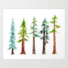Tall Trees Please Art Print