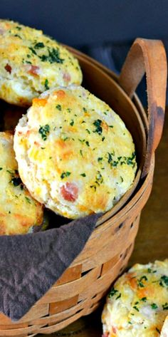 Ham and Cheese Biscuits | snacks, treats, appetizers, breakfast, Southern food recipes