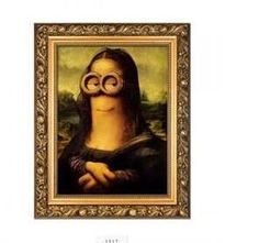 Funny Mona Lisa Canvas Poster Pop art home wall Decor Portrait Art frame