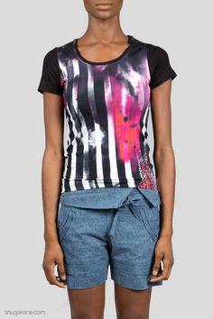 Printed Tees, Stripe Print, Online Shopping, Design, Net Shopping, Printed Shirts