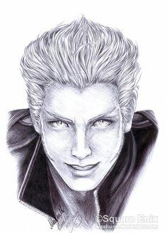 Loz~Final FantasyVII Advent Children Complete http://washu-m.deviantart.com/art/FF7-LOZ-Pen-Drawing-117681829