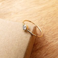 Diamond Engagement Ring  Simple Engagement Ring  18k by artemer, $610.00