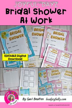 2c3386c98c5 Having a bridal shower at work  You will LOVE this packet of editable  printables that