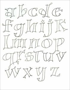 different lettering styles alphabet Hand Lettering Fonts, Doodle Lettering, Creative Lettering, Lettering Styles, Handwriting Fonts, Penmanship, Cursive, Doodle Fonts, Font Art