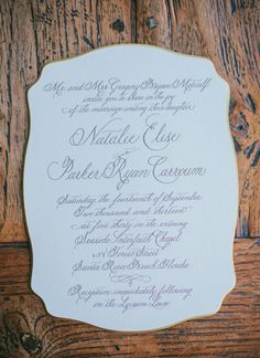 calligraphy invitation | Pure 7 Studios #wedding