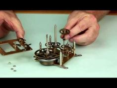An Introduction to Antique Clocks: The Going Train A video by The National Association of Watch and Clock Collectors, narrated by NAWCC member Lex Rooker For. Old Clocks, Antique Clocks, Clock Repair, Mantle Shelf, Clock Movements, Clock Parts, Antique Watches, Art N Craft, Wood Furniture