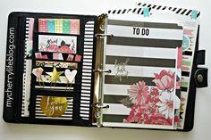 DIY Faux FiloFax/Kikki K Planner with Heidi Swapp Memory Planner Supplies | http://www.mycherrylifeblog.com/diy-faux-filofaxkikki-k-planner-with-heidi-swapp-memory-planner-supplies/
