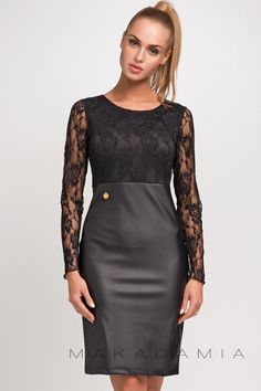 Sukienka M252 Czarny   Sukienki  Makadamia   odzież damska, sukienki, tuniki, bluzki, dresy
