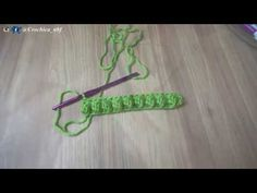 How to crochet the bobble stitch for right handed - YouTube