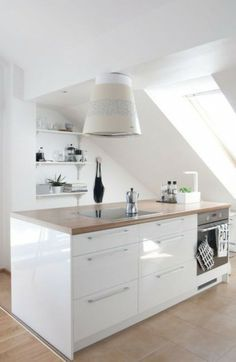 kleine Küche unterm Dach | Cucina | Pinterest | Attic, Kitchens and ...