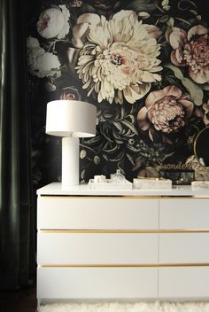 44 Genius IKEA Bedroom Hacks You'll Love :: an IKEA Malm dresser refreshed with gold contact paper looks very glam Baby Bedroom Furniture, Ikea Furniture, Bedroom Decor, Furniture Stores, Office Furniture, Furniture Design, Furniture Buyers, Smart Furniture, Steel Furniture