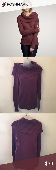 J. Crew Chalet Turtleneck Sweater Purple Size S Super cute deep purple J. Crew sweater. In great condition. Size S ||58 J. Crew Sweaters Cowl & Turtlenecks