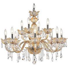 "Universal Lighting and Decor Teramo 31"" Wide Champagne Glass 12-Light Chandelier"