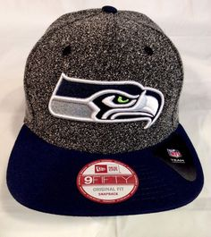 9c59f47a45979e Seattle Seahawks New Era 9Fifty SPEC SNAP Wool Adjustable OSFA SnapBack Cap  Hat
