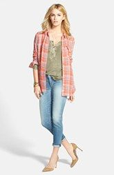 Another super casual outfit I love. Treasure&Bond Plaid Shirt, Henley Tee & Citizens of Humanity Ankle Jeans