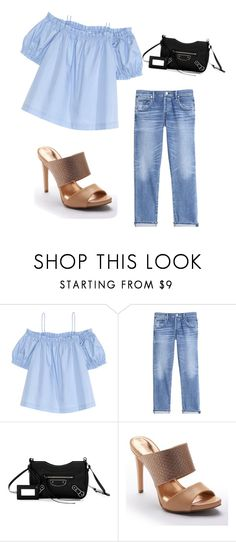 """""""Untitled #201"""" by marwachic ❤ liked on Polyvore featuring H&M, Rebecca Taylor, Balenciaga and Jennifer Lopez"""
