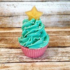 Cake Soap / Cupcake soap / Christmas tree soap / soap cupcake / handmade soap / artisan soap / shea butter / cold process soap / soap gifts