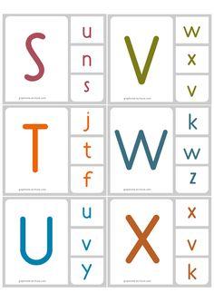 jeu d'écriture Memory Alphabet Correspondance majuscule minuscule script 4