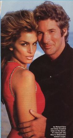 Cindy Crawford and Richard Gere. 90s supermodel.