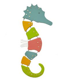 Another great find on #zulily! Pastel Sea Horse Wall Art #zulilyfinds