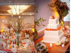 Cute fall wedding decor