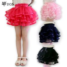 b2689da7f7 Tulle Fluffy Children Girls TuTu Skirts Girl Dance skirts With Satin Ribbon  Bowknot Princess Layered skirt