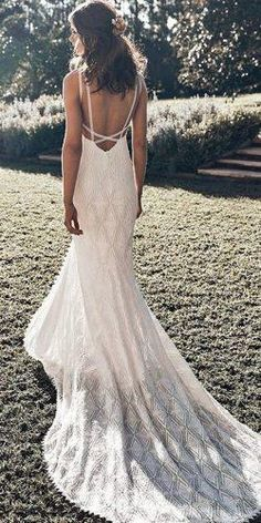 New Wedding Dresses Hippie Chic Grace Loves Lace Ideas Lace Beach Wedding Dress, Luxury Wedding Dress, Perfect Wedding Dress, Dream Wedding Dresses, Designer Wedding Dresses, Mermaid Wedding, Bridal Dresses, Wedding Gowns, Lace Wedding