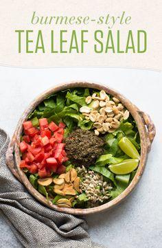 Asian Recipes, New Recipes, Healthy Recipes, Drink Recipes, Summer Recipes, Healthy Food, Favorite Recipes, Tea Leaf Salad, Burmese Food