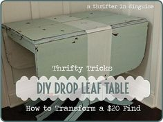 Add rustic character to a thrifted table using milk paint.