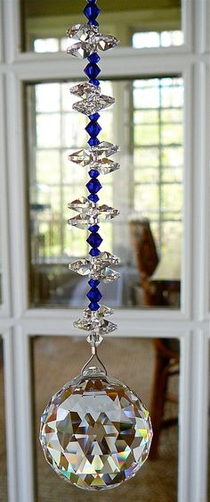 Natalie Cobalt Blue 9   Swarovski Crystal by HeartstringsByMorgan, $33.00