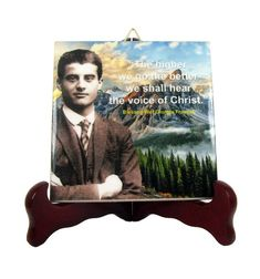 Blessed Pier Giorgio Frassati catholic icon on ceramic tile - Bl Pier Giorgio Frassati - catholic faith - religious gifts - holy gifts Catholic Gifts, Catholic Prayers, Catholic Art, Religious Gifts, Saint Quotes, Tile Murals, Christian Gifts, My Works, At Least