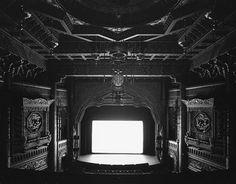 Photographer Hiroshi Sugimoto took  long-exposure photographs of cinema screens...