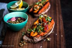 Oven roasted carrots on toast-1-4