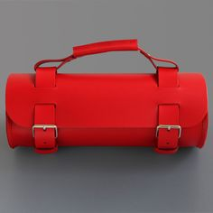 Round Tool Bag Red