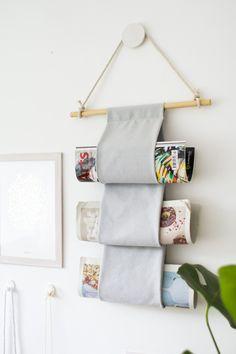 DIY: magazine hanger...or maybe TP holder