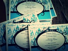 I helped design these... Day 20 - January 20,2014 #Invitations #21st #Lettheplanningbegin #Soexcited #Decorations #Cantwait #Hardwork #Formal #Amonthandahalftogo #Savethedate #Oneofmany
