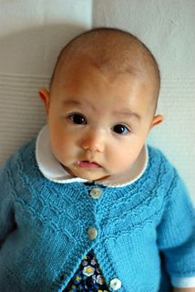 Seamless Yoked Baby Sweater, free, sizes newborn to 3 months and 3-6 months