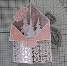A Passion For Cards: How to make a Tuxedo card with Trimcraft's Winter Wishes paper and First Edition dies
