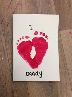 Endearing Footprint Art for Valentine's Day Toddler's Fun Gift for Dad Valentine's Day with Kids Valentine's Day Crafts For Kids, Valentine Crafts For Kids, Daycare Crafts, Baby Crafts, Valentines Diy, Holiday Crafts, Fun Crafts, Valentines Art For Kids, Kids Fathers Day Crafts