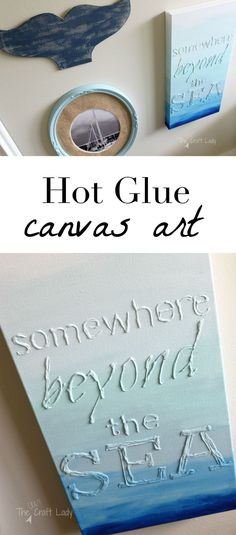 DIY Hot Glue Canvas Art
